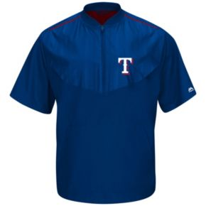 Men's Majestic Texas Rangers On-Field Cool Base Training Jacket