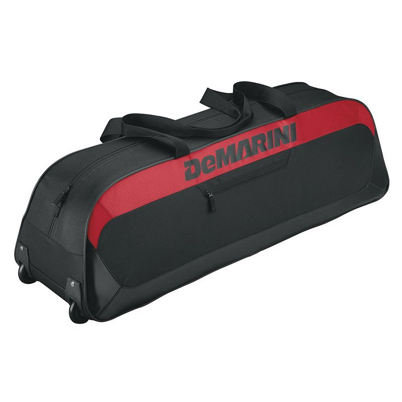 Youth DeMarini Uprising Wheeled Baseball Bat Bag, Red Sports Gear