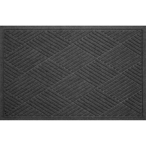 Charcoal Grey Gray Rubber Commercial Door Mat Outdoor Entry Rug Garage 24x36 in