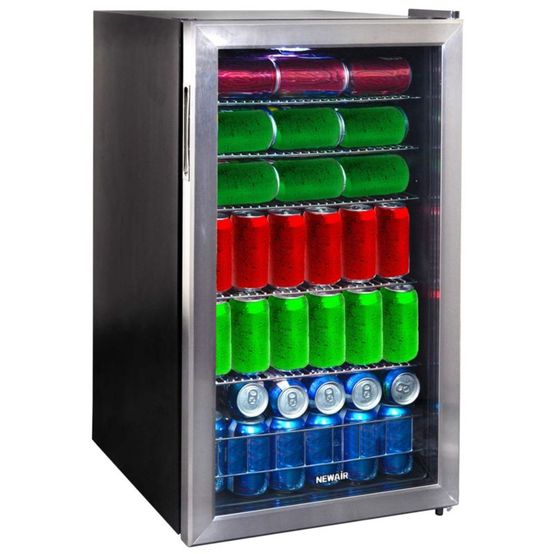NewAir 126-Can Beverage Cooler, Multicolor