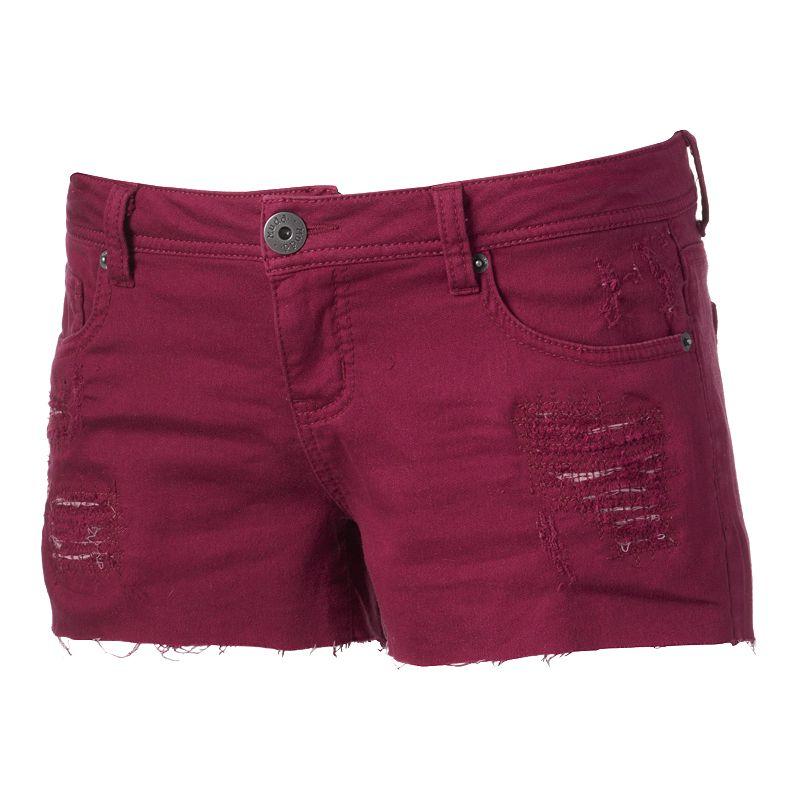 Mudd Rip & Repair Denim Shorts - Juniors