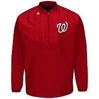 Men's Majestic Washington Nationals On-Field Cool Base Long-Sleeve Training Jacket
