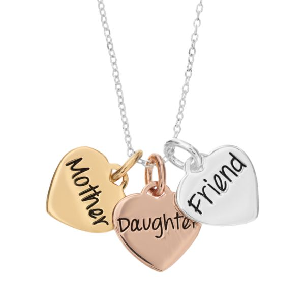 Timeless Sterling Silver Tri Tone Quot Mother Daughter Friend