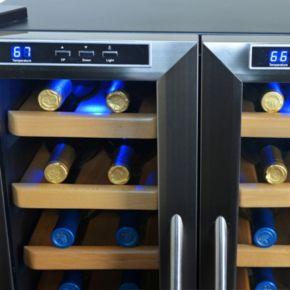 NewAir 32-Bottle Dual Zone Wine Cooler