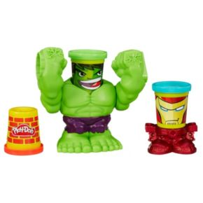 Play-Doh Smashdown Hulk and Marvel Can-Heads Set by Hasbro