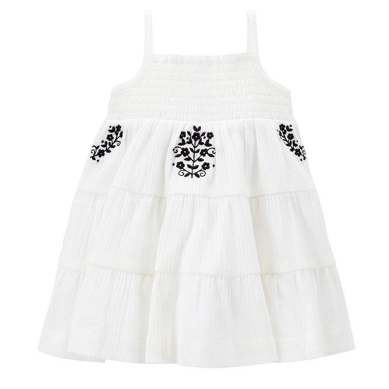Carter's Flower Smock Dress - Baby Girl