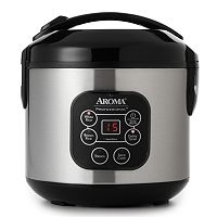 Aroma 8 cupStainless Steel Digital Rice Cooker