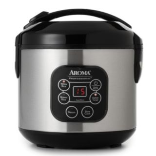 Aroma 8-Cup Stainless Steel Digital Rice Cooker