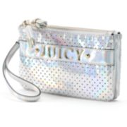 Juicy Couture Perforated Irridescent ''Juicy'' Wristlet