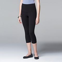 Simply Vera Vera Wang High-Waisted Mesh Panel Shaping Capri Leggings