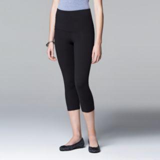 Simply Vera Vera Wang High-Waisted Mesh Panel Shaping Capri Leggings