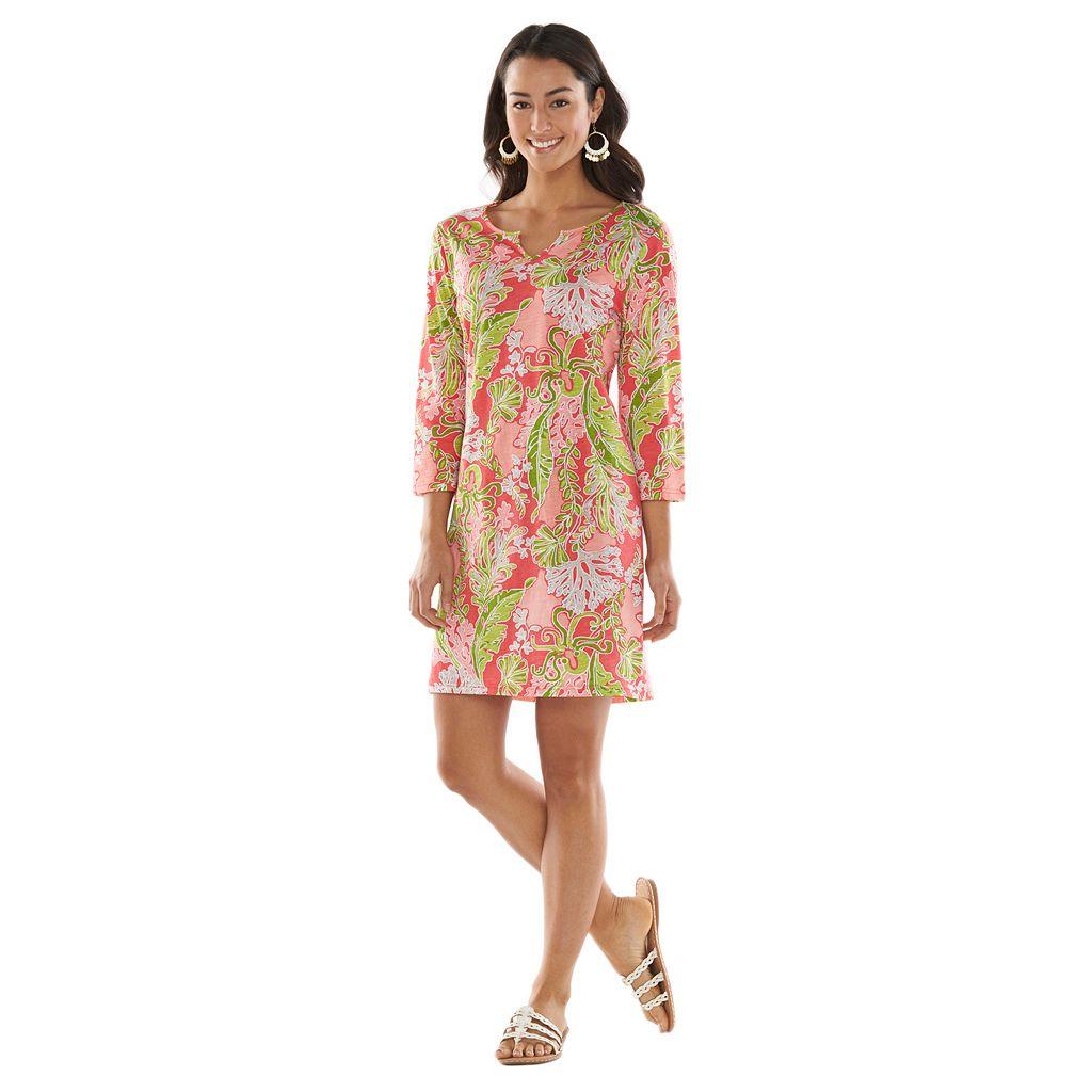 Caribbean Joe Tropical Shirtdress - Women's