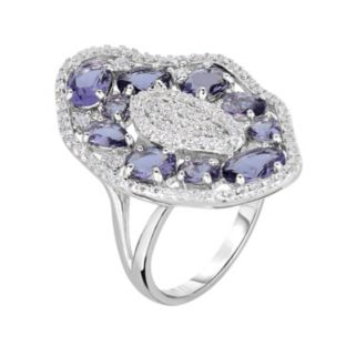 Sterling Silver Cubic Zirconia Cluster Ring