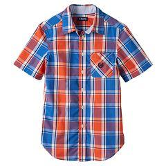 Toddler Boy Chaps Plaid Button-Down Shirt