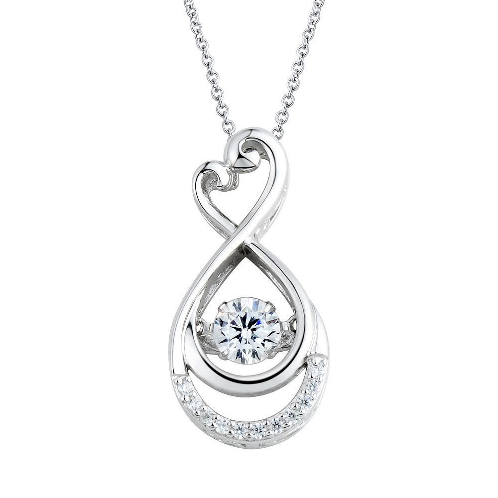 lucky platinum lady pin diamond simulated lafonn plated horseshoe necklace detail pendant