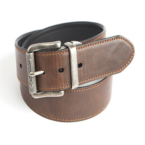 Men's Columbia Roller Logo Buckle Reversible Belt