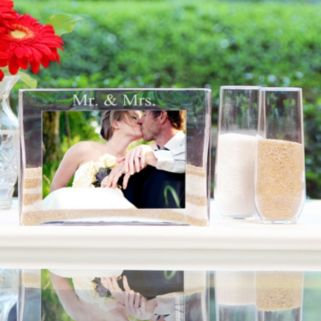 Cathy's Concepts 3-piece ''Mr. and Mrs.'' Sand Ceremony Photo Unity Set