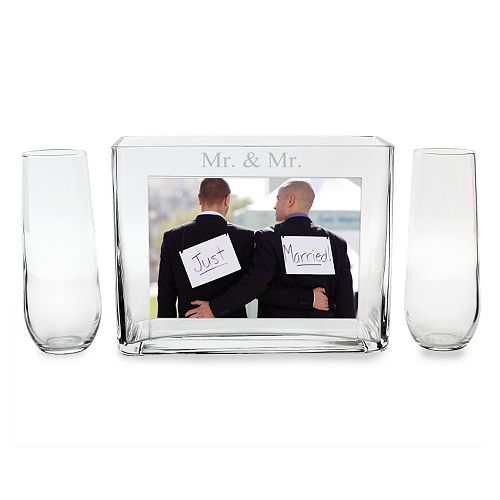 Cathy\'s Concepts 3-piece \'\'Mr. & Mr.\'\' Sand Ceremony Photo Unity Set
