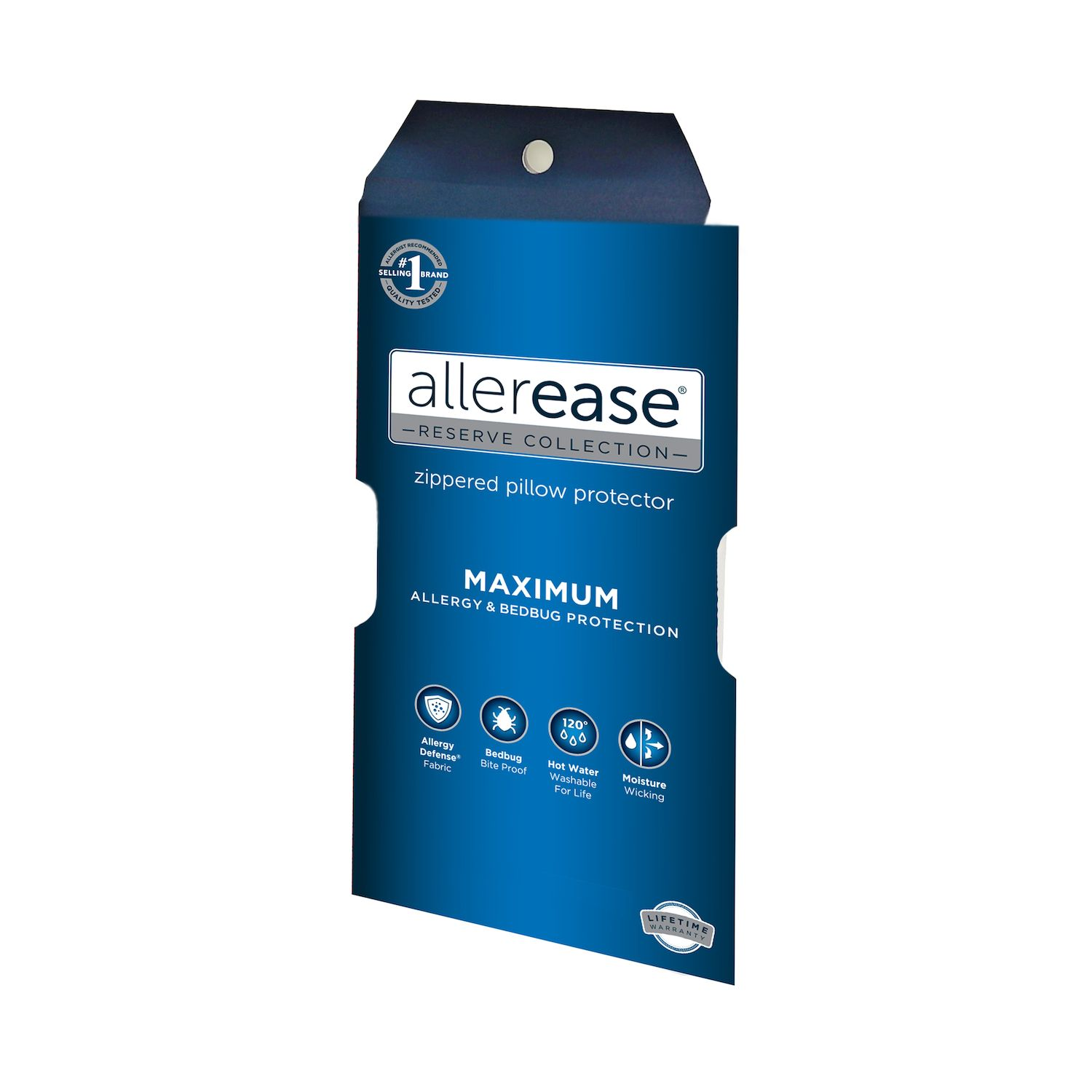 allerease maximum bedbug u0026 allergy protection pillow protector