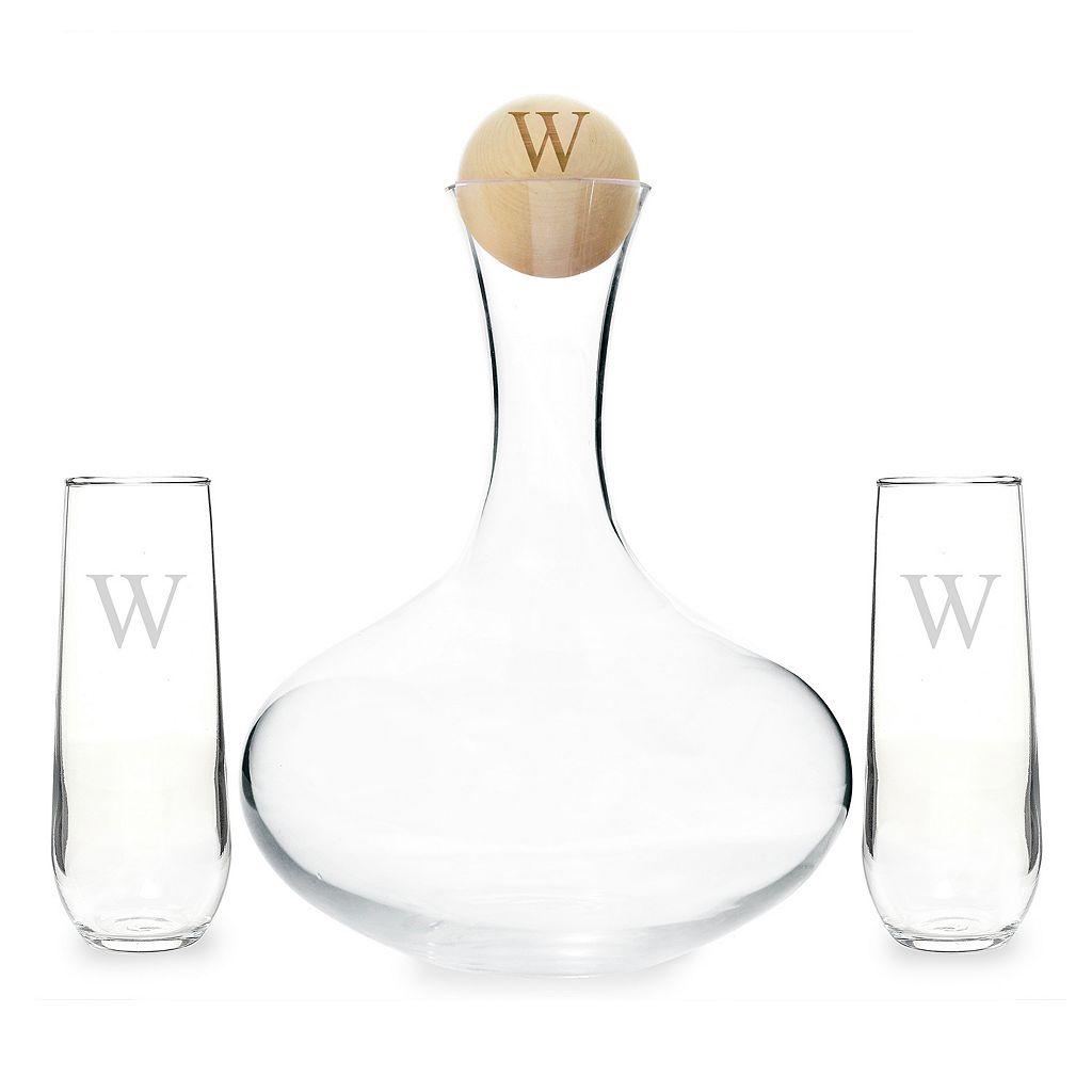 Cathy's Concepts 4-piece Personalized Wedding Wine Unity Ceremony Set