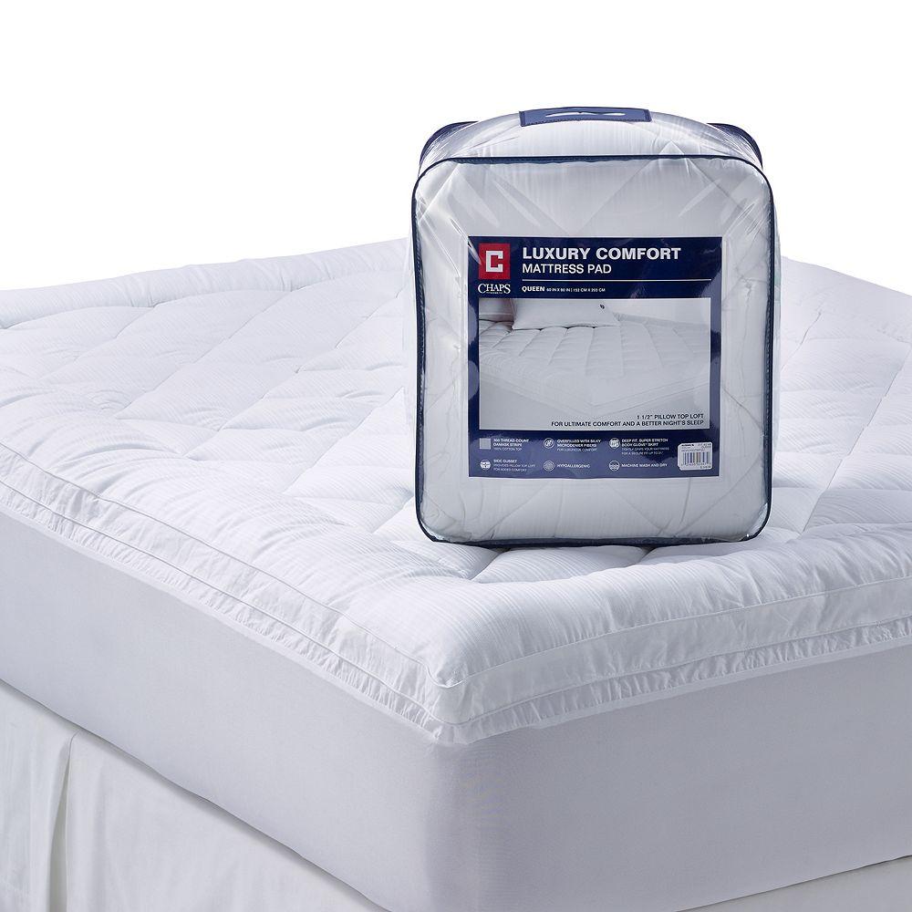 Luxury Comfort 300 Thread Count Deep Pocket Pillow Top Mattress Pad