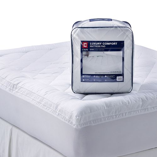 Chaps 1 1 2 In Luxury Comfort 300 Thread Count Deep Pocket Pillow Top Mattress Pad
