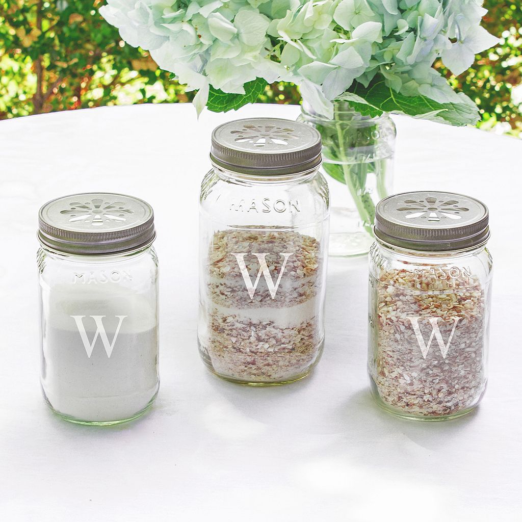 Cathy's Concepts 3-piece Personalized Mason Jar Sand Ceremony Set