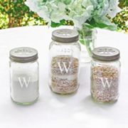 Cathy's Concepts 3 pc Personalized Mason Jar Sand Ceremony Set