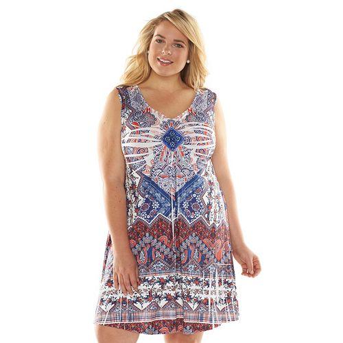 Plus Size Apt. 9® Printed Embellished Dress