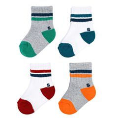 Baby Boy / Toddler Boy Jumping Beans® 4-pk. Printed Crew Socks