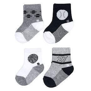 Baby Boy / Toddler Boy Jumping Beans® 4-pk. Printed Crew Socks