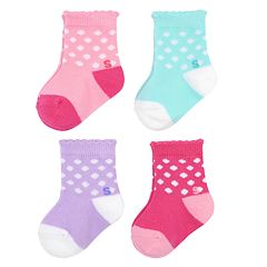Baby Girl / Toddler Girl Jumping Beans® 4-pk. Crew Socks