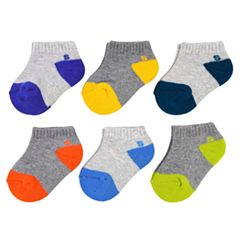 Baby Boy / Toddler Boy Jumping Beans® 6-pk. Colorblock Low-Cut Socks