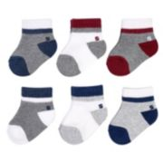 Baby Boy / Toddler Boy Jumping Beans® 6-pk. Striped Quarter-Crew Socks
