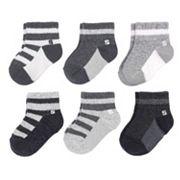 Baby Boy / Toddler Boy Jumping Beans® 6 pkStriped Quarter-Crew Socks