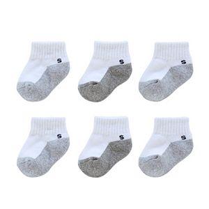 Baby Boy / Toddler Boy Jumping Beans® 6-pk. Striped Quarter-Crew Socks