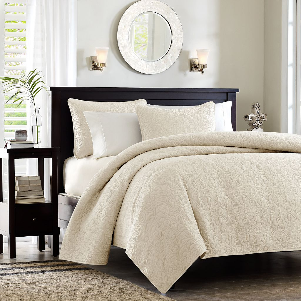 Madison Park Mansfield Quilted Coverlet Set