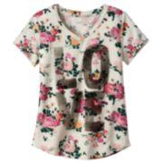 Mudd® V-neck Graphic Tee - Girls 6-16 & Girls' Plus