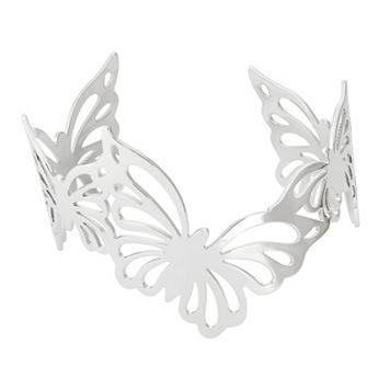 Sterling Silver Butterfly Cuff Bracelet