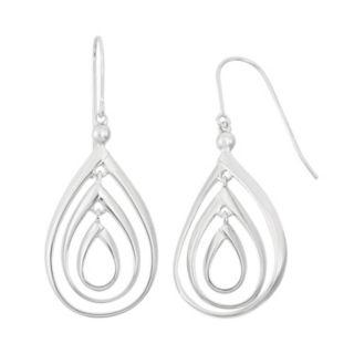 Sterling Silver Triple Teardrop Earrings