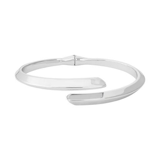 Sterling Silver Bypass Cuff Bracelet