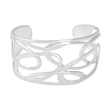 Sterling Silver Openwork Cuff Bracelet