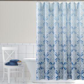 Home Classics® Ombre Foulard Fabric Shower Curtain