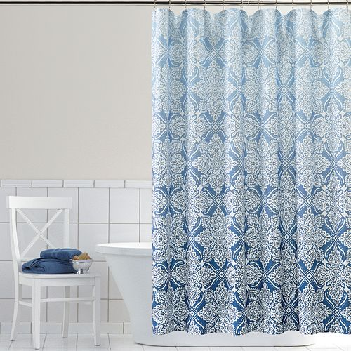 home classics ombre foulard fabric shower curtain