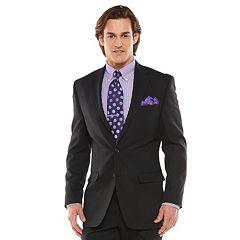 Men's Chaps Black Label Classic-Fit Black Wool-Blend Stretch Suit Jacket