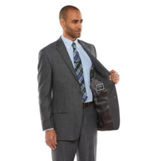 Men's Chaps Black Label Classic-Fit Charcoal Wool-Blend Stretch Suit Jacket