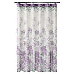 purple and gray shower curtain. Home Classics  Francesca Fabric Shower Curtain Purple Curtains Accessories Bathroom Bed Bath Kohl S