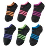 Girls adidas 6 pkSuperLite No-Show Socks