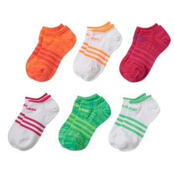 Girls adidas climalite SuperLite 6-pk. No-Show Socks