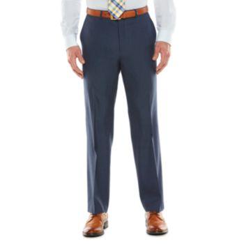 Men's Chaps Black Label Classic-Fit Navy Wool-Blend Stretch Flat-Front Suit Pants
